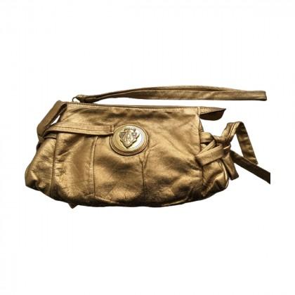 Gucci gold leather Hysteria clutch bag