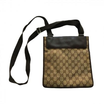 Gucci logo canvas crossbody bag
