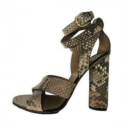 Gucci leather snakeskin sandals size IT37