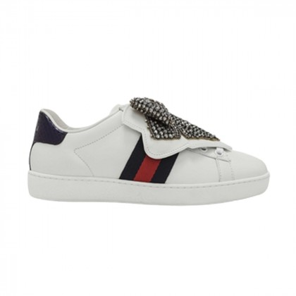 GUCCI Ace leather trainers with removable bow size IT35.5