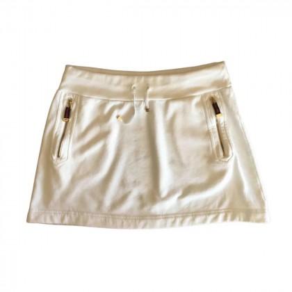 GUCCI white cotton mini skirt size S