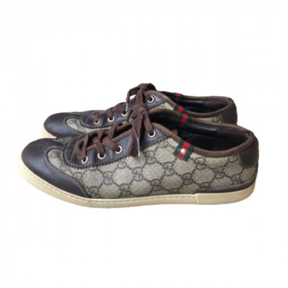 GUCCI GG canvas low trainers size IT 38.5