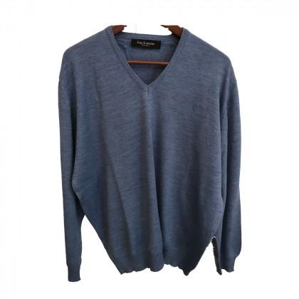 Guy Laroche Blue long sleeve V Neck top size XL