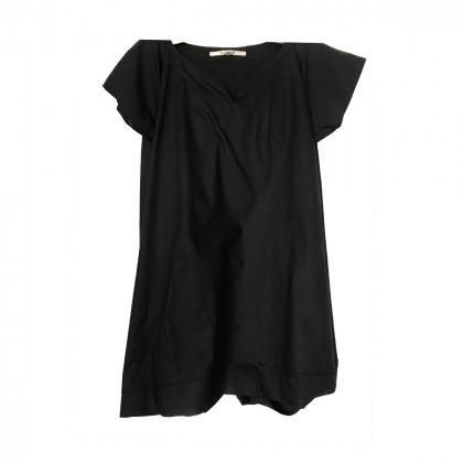 HACHE black cotton dress jupe culottes style