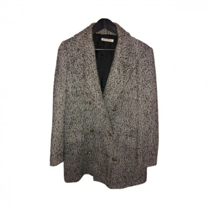 Angela Mele Milano grey/black herringbone blazer size IT44