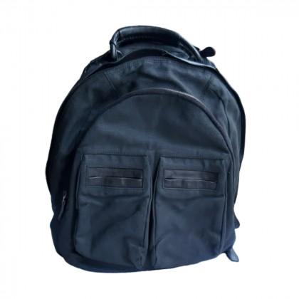 Hogan black backpack  with leather details