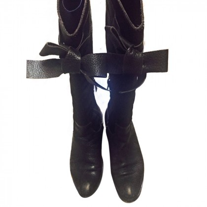 Sebastian brown leather and suede boots