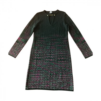 MISSONI BROOCH V NECK DRESS