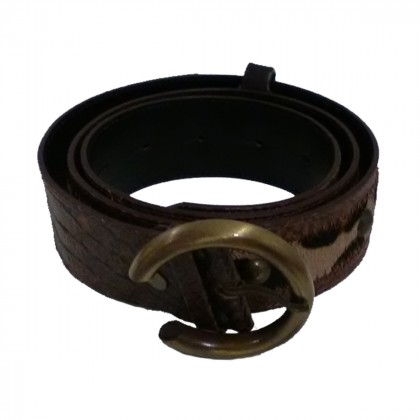 CRISANO belt with pony skin leather details