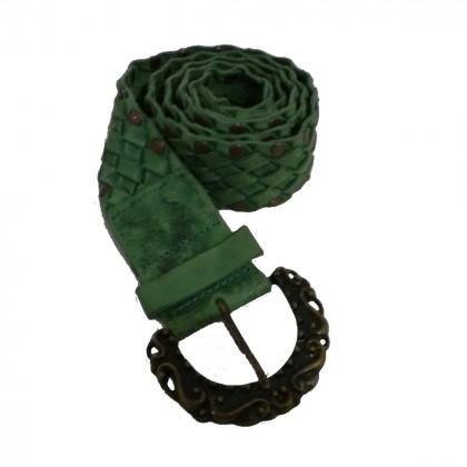 Per Una green leather belt