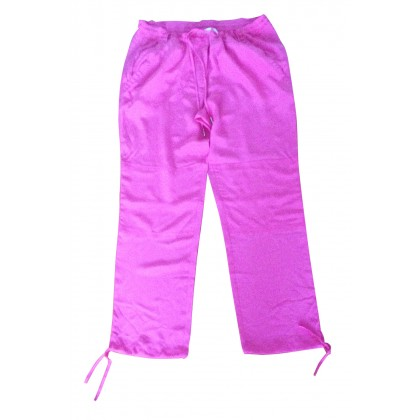 Juicy Couture fuschia silk trousers