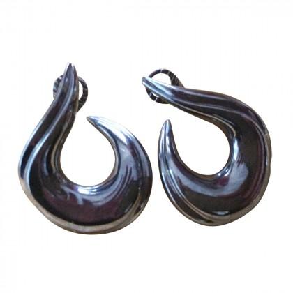 "Myrto Anastasopoulou black silver ""spice "" earrings"