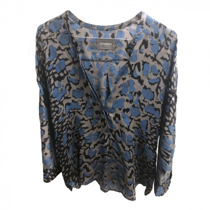 ZADIG & VOLTAIRE TUNIC STYLE TOP ANIMAL PRINTED SIZE M