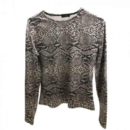 CARLING snake  print lycra top size 3 , fits as a S-M