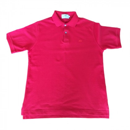 BURBERRY red polo t-shirt