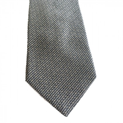 EMPORIO ARMANI SILK TIE IN BROWN AND GREY