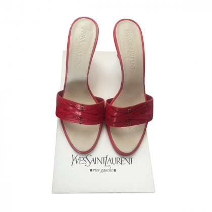 Yves Saint Laurent high heel mule