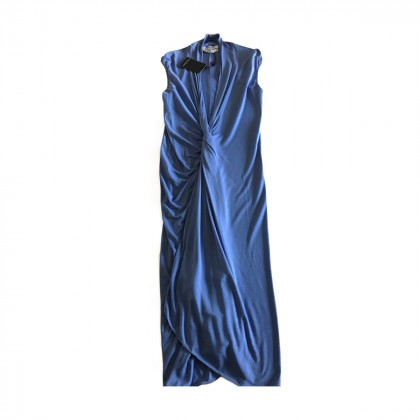 YSL sleeveless V neck drapped front  dress