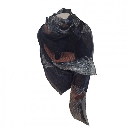 CHANEL multicolor scarf