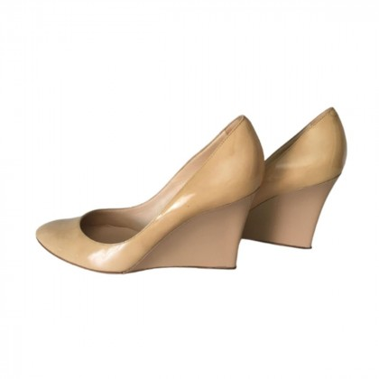Jimmy Choo beige patent leather wedges size IT 41