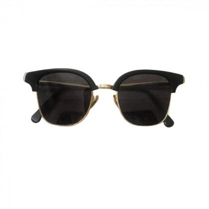 Kaleos black sunglasses with gold details