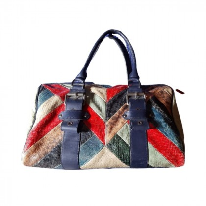 Longchamp Neo Patch leather tote bag by Kate Moss