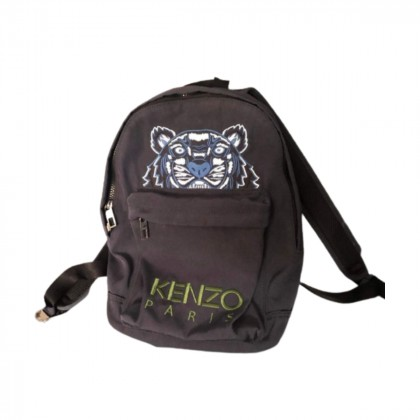 Kenzo unisex black embroidered tiger backpack brand new