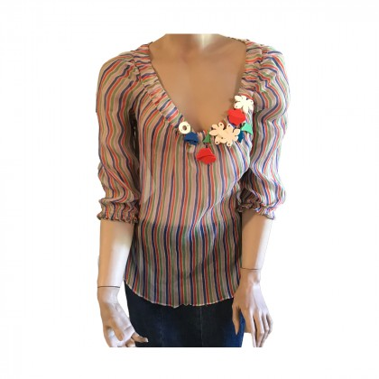 Cacharel Multicolor silk top