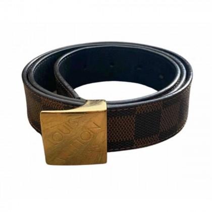 Louis Vuitton Damier Ebene leather belt size 85