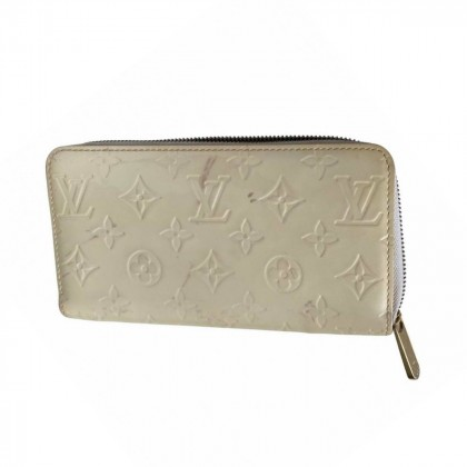 Louis Vuitton ice white patent leather wallet