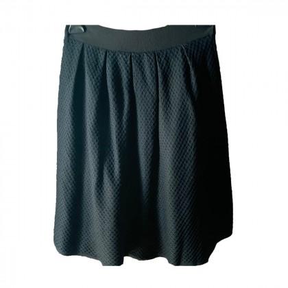 MARIO FRESH pleated wool mini black skirt sizeS