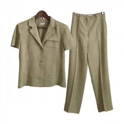 Max & Co Beige Linen Suit size IT42