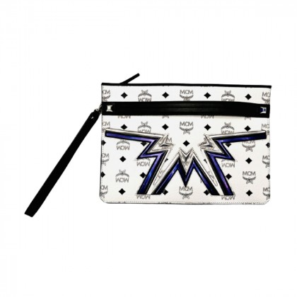 MCM CYBER FLASH MED POUCH IN WHITE