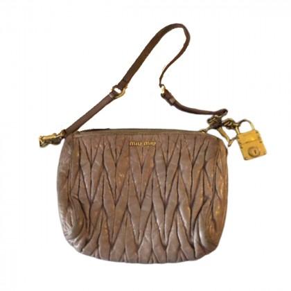 Miu Miu matelasse shoulder leather bag
