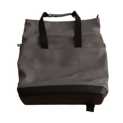 Moleskine grey leather backpack