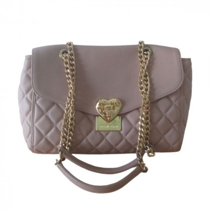 Love Moschino pink leather quilted bag