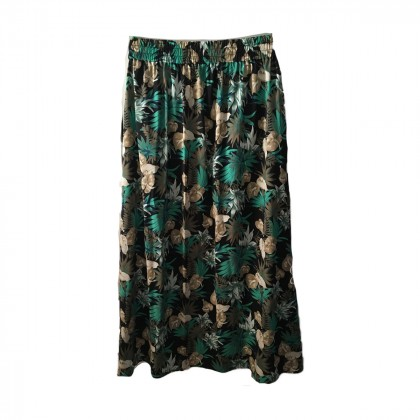 Maison Scotch skirt in floral and animal print maxi skirt one size