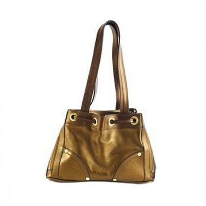 MULBERRY POPPY BRONZE LEATHER BAG