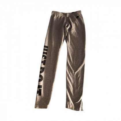 Nike grey leggings with black logo size S
