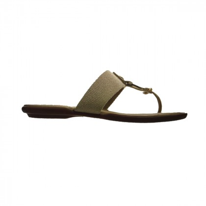 HOGAN Gold Leather Thong Sandals IT 38,5 or US 8,5