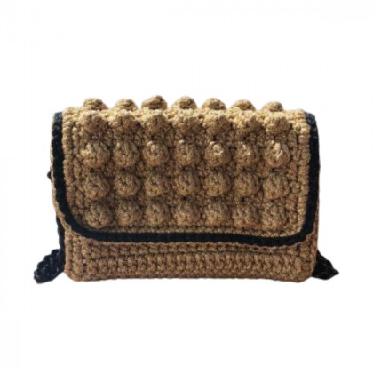 One and only Cross body/clutch knitted gold bag
