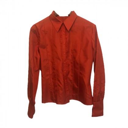 Laltramoda Orange Silk Shirt size IT 46