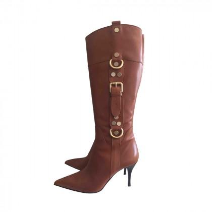 Cesare Paciotti camel leather boots size IT 37.5
