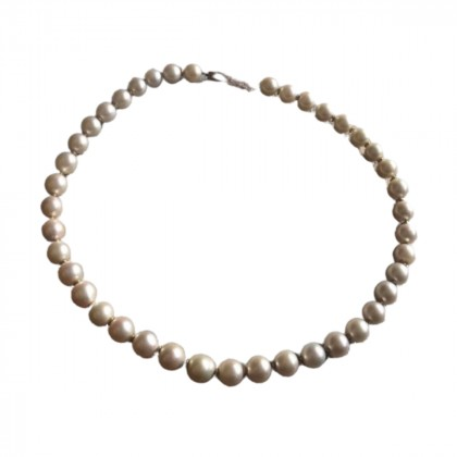 Real Pearls necklace in 18k yellow gold