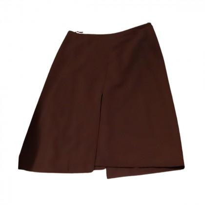 Prada assymetrical brown skirt size IT 40