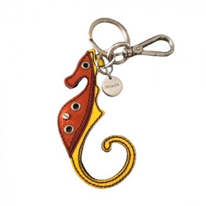 Prada leather hippocampus keyring/bag charm