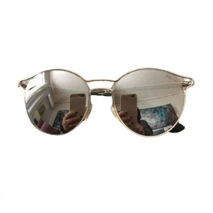 Prada metal wire round  mirrored sunglasses-2020 collection