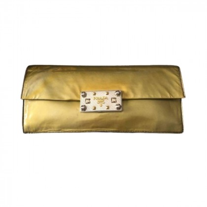 Prada vintage degrade patent leather clutch bag