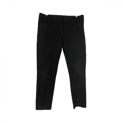 Prada black cotton straight leg pants IT 48
