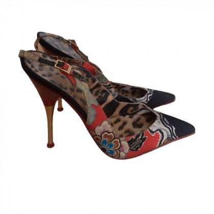 Roberto Cavalli sling back heels size IT 37